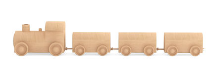 Children toy wooden train Stock Image