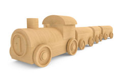 Children toy wooden train Royalty Free Stock Images