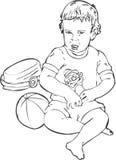 Children with Toys. Illustration art royalty free illustration