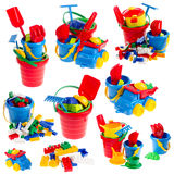 Children toys. Isolated on white background Royalty Free Stock Photos