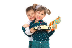 Children with toys Stock Image
