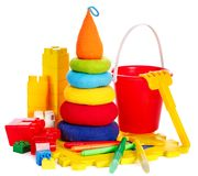 Children toys with bucket. Stock Image