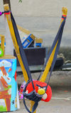 Children toys at the fair in the village Royalty Free Stock Photography