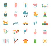 Children toys in flat style Royalty Free Stock Image