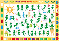Children and toys icons Royalty Free Stock Photography