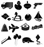 Children toys icons set Stock Image