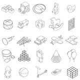 Children toys icons set, isometric 3d style Stock Photos