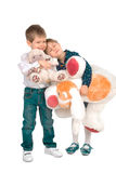 Children with toys Royalty Free Stock Images