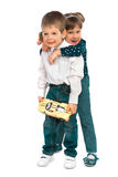Children with toys Royalty Free Stock Photos