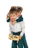 Children with toys Royalty Free Stock Photo