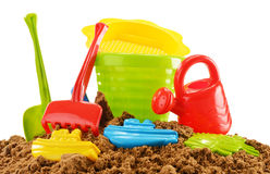 Children toys for playing in sandpit or on a beach Stock Photography