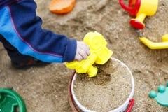 Children toys on sand or beach Stock Photo