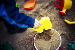 Children toys on sand or beach Royalty Free Stock Photo