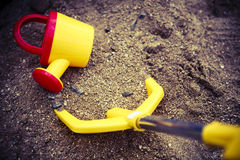 Children toys on sand or beach Royalty Free Stock Images