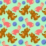 Children toys seamless retro pattern Stock Image