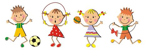 Children and toys Royalty Free Stock Image
