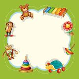 A children toys template. Illustration royalty free illustration