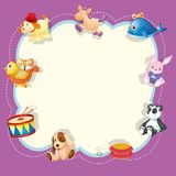 A children toys template. Illustration stock illustration