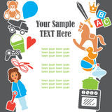 Children Toys Text Template Frame Card, Vector Illustration Stock Photo