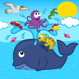 Children toyswhale and marine animals Royalty Free Stock Photo