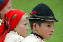 Children in traditional clothes Stock Images