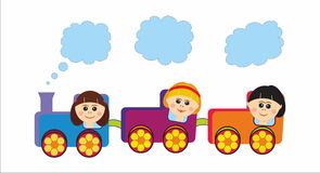 Children train Royalty Free Stock Photos