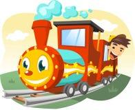 Children train ride illustration Royalty Free Stock Image