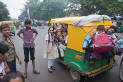 Children travel from a school Royalty Free Stock Image