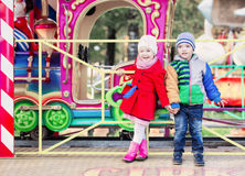 Children in the traveling circus Stock Photos
