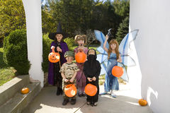 Children trick or treating Stock Photography