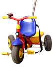 Children tricycle on white Royalty Free Stock Image