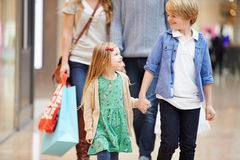 Children On Trip To Shopping Mall With Parents Royalty Free Stock Photos