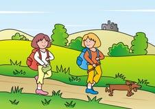 Children - trip Stock Photo