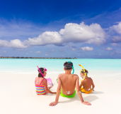 Children on tropical beach Royalty Free Stock Images