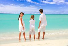 Children on tropical beach Stock Photo