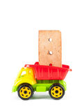 Children truck with red brick Stock Image