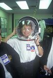 Children try on $1 million spacesuit at Space Camp, George C. Marshall Space Flight Center, Huntsville, AL Stock Images