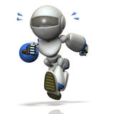 Children type robot is running hard. Royalty Free Stock Photos