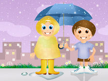 Children with umbrella Royalty Free Stock Image