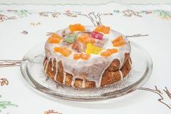 Children urodzinowy tort z motylami Zdjęcia Stock