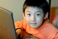 children use computer Stock Photo