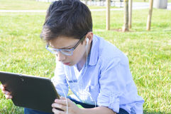 Children use tablets Stock Photos