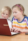Children using computer Royalty Free Stock Image