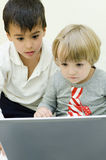 Children using laptop Stock Images