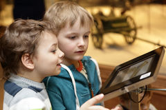 Children using touch screen Stock Image