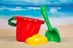 Children ustawiający dla gry z piaskiem Fotografia Stock