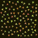 Children vector bird retro pattern Royalty Free Stock Photos