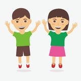 Children Vector Royalty Free Stock Photography