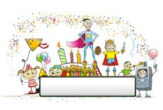 Children Vector illustration Royalty Free Stock Photos