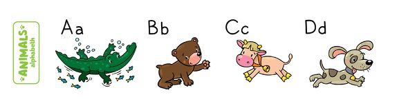 Animals alphabet or ABC. Royalty Free Stock Photo